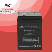 SPT Series 6V4AH Sealed Maintenance Free VRLA/SLA AGM Battery for UPS