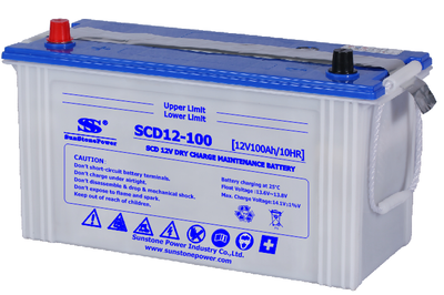 JIS Standard Dry Charged Car Battery SCD 12V 100AH
