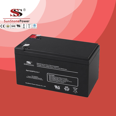 SPT Series 12V7AH Sealed Maintenance Free VRLA/SLA AGM Battery for UPS