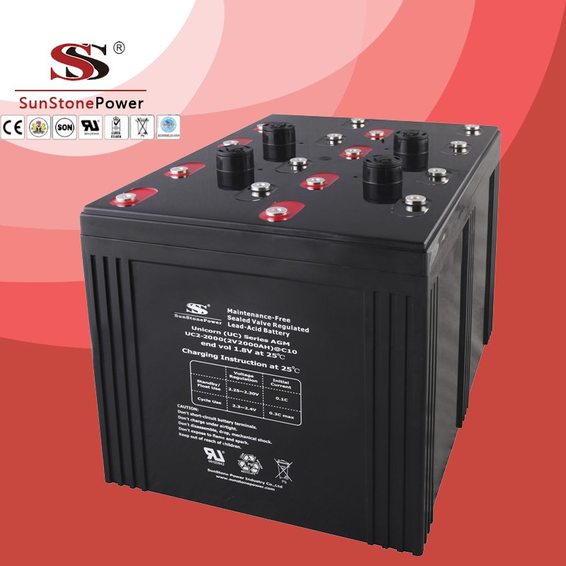 UC series 2V 2000AH Solar battery Deep cycle battery Solar Control system Battery