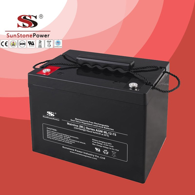 12 Volt 75AH Rechargeable Sealed Lead Acid VRLA Battery UPS Battery AGM Batteries