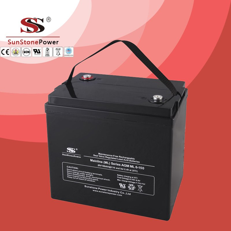 Solar Battery Deep Cycle Battery 6v 150ah AGM Lead Acid Battery