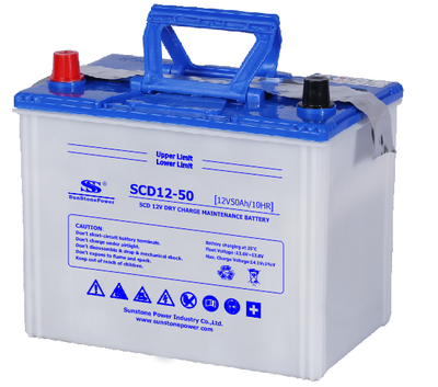 JIS Standard Dry Charged Car Battery SCD 12V 50AH