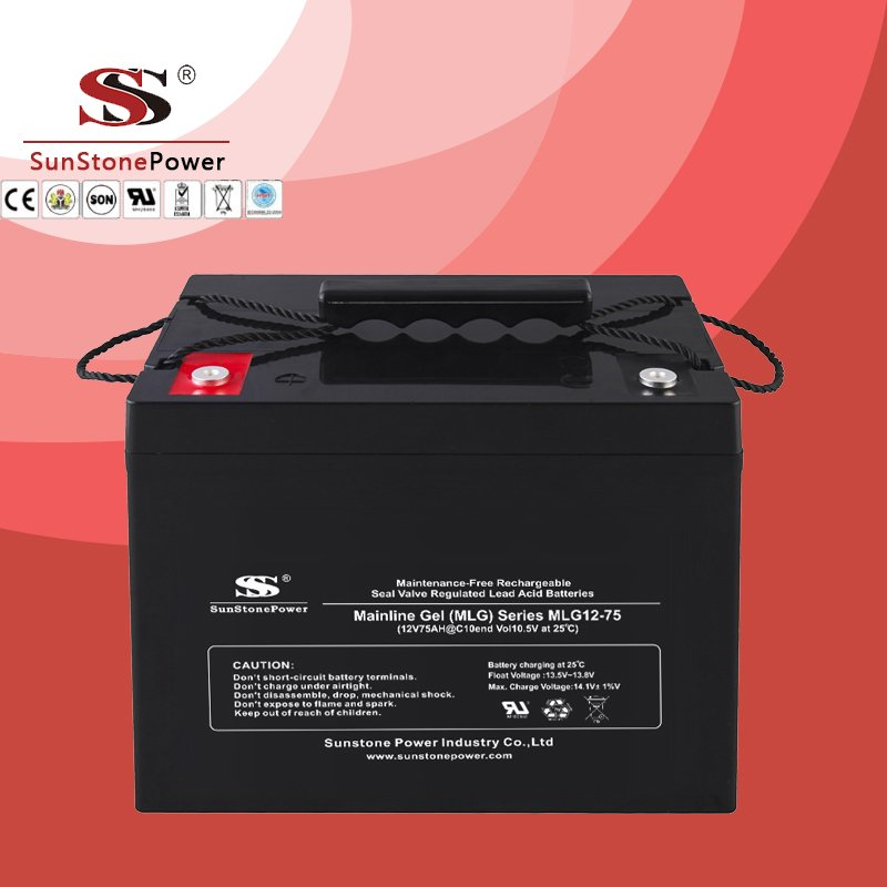Deep Cycle 12V 75AH Gel Lead Acid Solar Battery