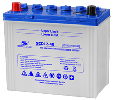 JIS Standard Dry Charged Car Battery SCD 12V 40AH
