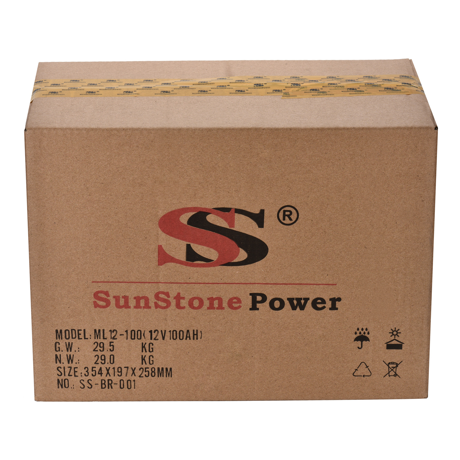 Sunstone Power 12V 44AH Rechargeable Deep Cycle VRLA Storage Battery