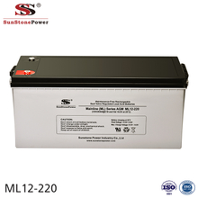 Sunstone Power 12V 220AH Maintenance Free AGM Battery Energy Backup